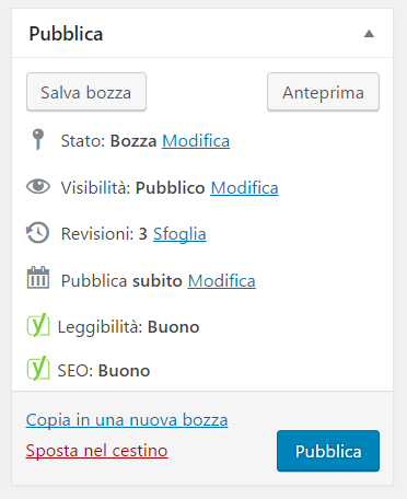 Programmare post su wordpress