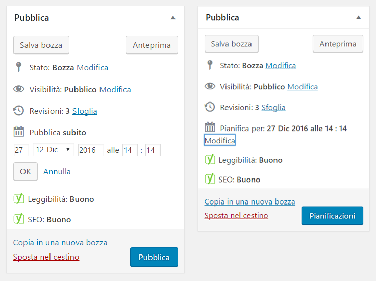 Programmare post su wordpress 2